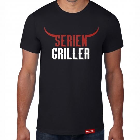 Seriengriller - Serien Griller // Original Hariz® T-Shirt - Sechzehn Farben, XS-4XXL // Männer   Sprüche   BBQ   Geburtstag   Geschenke #Grill Collection
