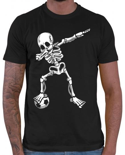 Dab Skelett mit Fussball Herren T-Shirt // 20 Farben, XS - 5XXL