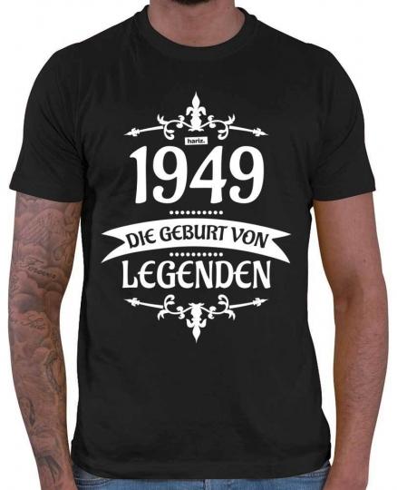 1949 Die Geburt Von Legenden 2 70 Geburtstag Herren T-Shirt // 20 Farben, XS - 5XXL