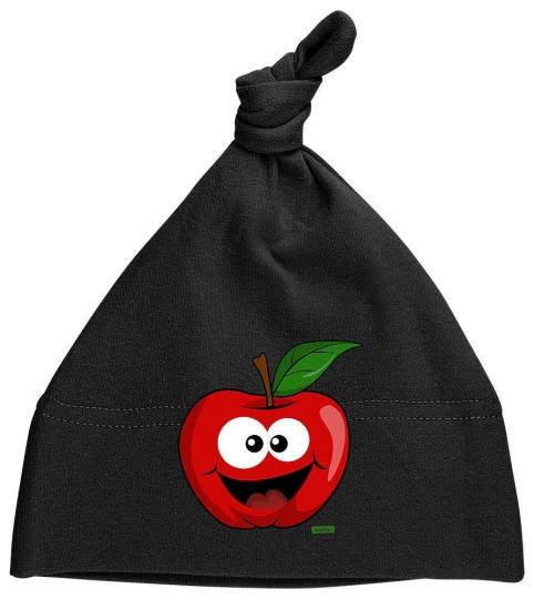 Apfel Lachend Baby Mütze Knoten // 9 Farben,  OneSize