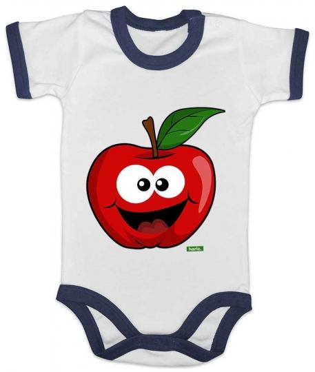 Apfel Lachend Baby Body Ringer // 3 Farben. 0-18 Monate