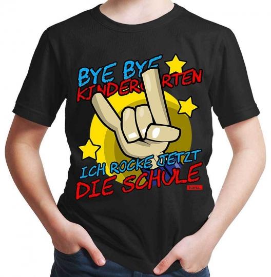 Bye Bye Kindergarten Ich Rock Jetzt Die Schule 2 Jungen T-Shirt // 19 Farben, 92 - 164