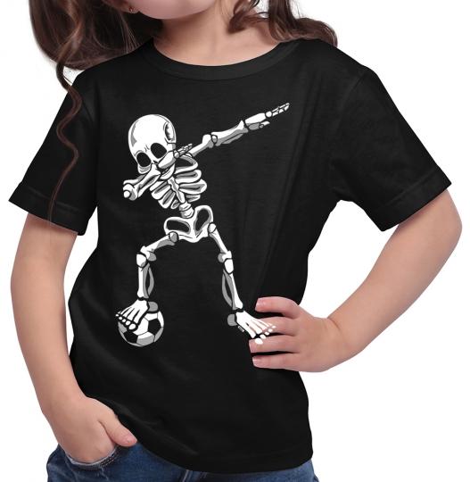 Dab Skelett mit Fussball Mädchen T-Shirt // 14 Farben, 104 - 164