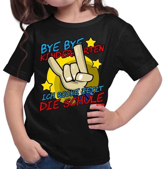 Bye Bye Kindergarten Ich Rock Jetzt Die Schule 2 Mädchen T-Shirt // 14 Farben, 104 - 164