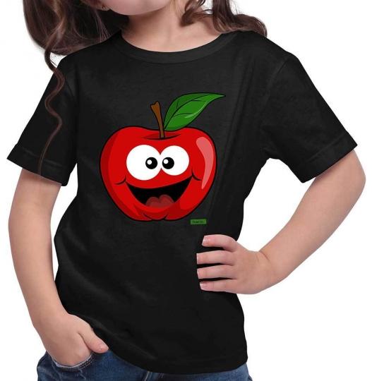 Apfel Lachend Mädchen T-Shirt // 14 Farben, 104 - 164