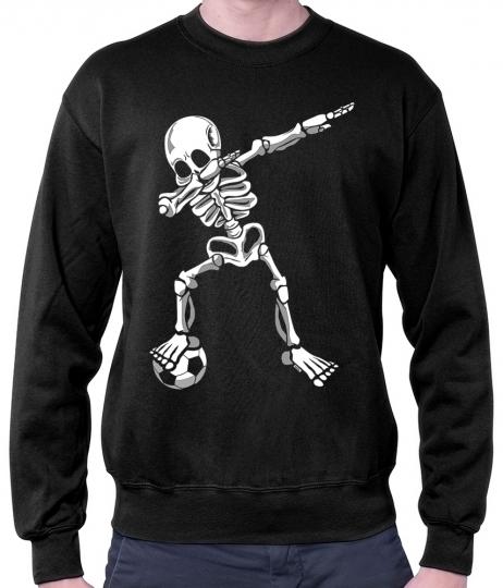 Dab Skelett mit Fussball Herren Pullover // 11 Farben, S - 3XL