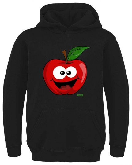 Apfel Lachend Kinder Hoodie // 16 Farben, 104 - 164