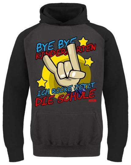 Bye Bye Kindergarten Ich Rock Jetzt Die Schule 2 Kinder Baseball Hoodie // 4 Farben, 3-13 Jahre