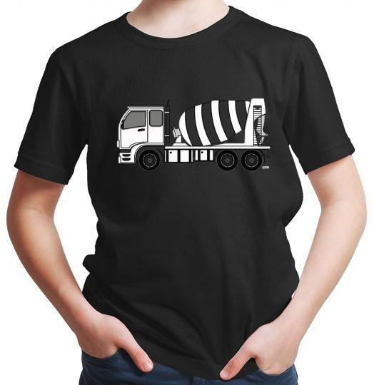 Betonmischer Fahrmischer Jungen T-Shirt // 19 Farben, 92 - 164