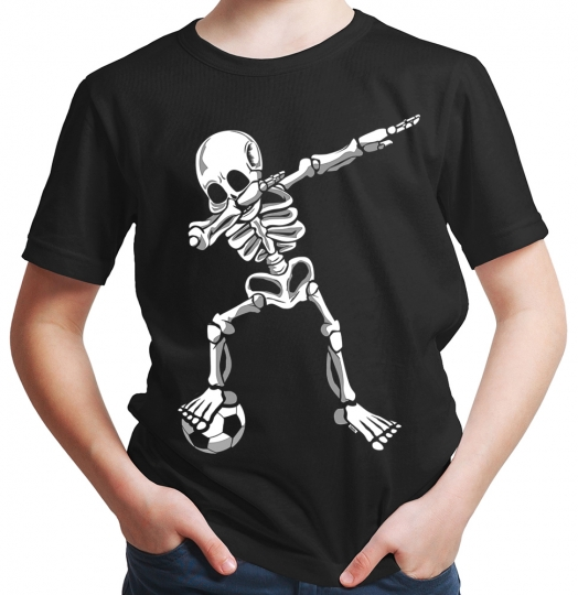 Dab Skelett mit Fussball Jungen T-Shirt // 19 Farben, 92 - 164