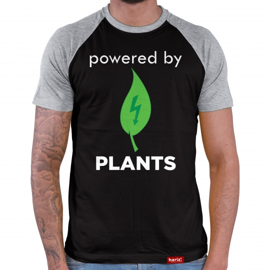 powered by Plants Herren Baseball Shirt // 10 Farben, XS-4XL