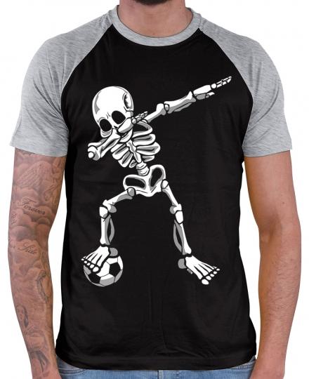Dab Skelett mit Fussball Herren Baseball Shirt // 10 Farben, XS-4XL