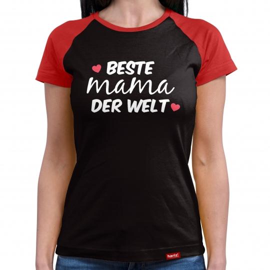 Beste Mama der Welt Damen Baseball Shirt // 9 Farben, XS-4XL