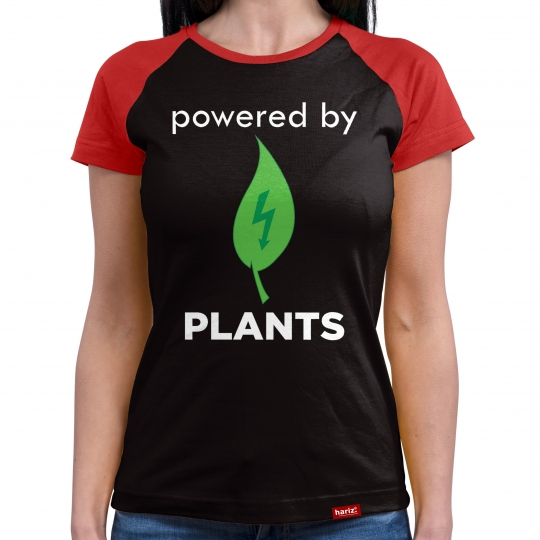 powered by Plants Damen Baseball Shirt // 9 Farben, XS-4XL