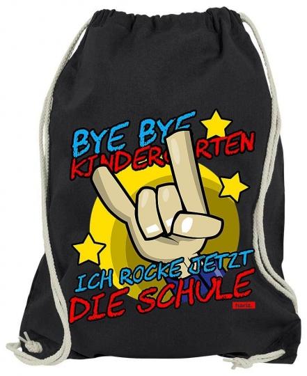 Bye Bye Kindergarten Ich Rock Jetzt Die Schule 2 Turnbeutel // 20 Farben, OneSize