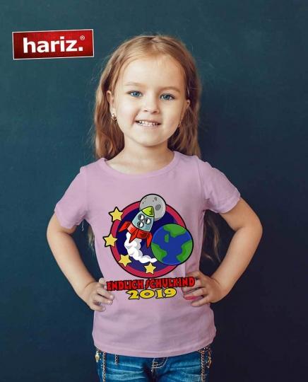 Kinder T-Shirt Schulkind 2019 Rakete Kids Schule Einschulung Fun