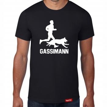 Gassimann // Original Hariz® T-Shirt - Sechzehn Farben, XS-4XXL // Haustier | Lustig | Geschenk | Dog | Weihnachten #Hund Collection