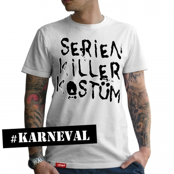 Serien Killer Kostüm // Original Hariz® T-Shirt - 16 Farben, XS-4XXL // Fasching   Halloween   Altweiberfastnacht   Verkleidung   Kostüm #Karneval Collection