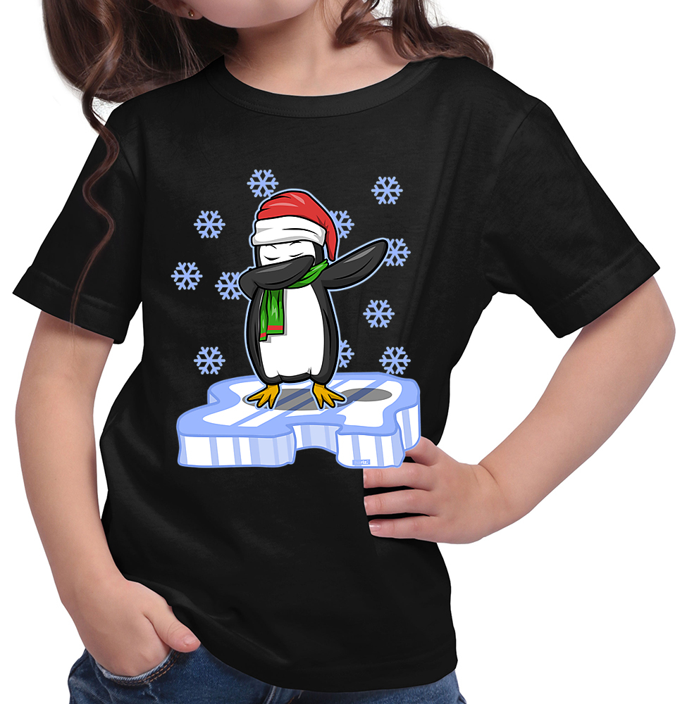 HARIZ.com | Dab Pinguin Eis Weihnachten Mütze Mädchen T-Shirt // 14 ...