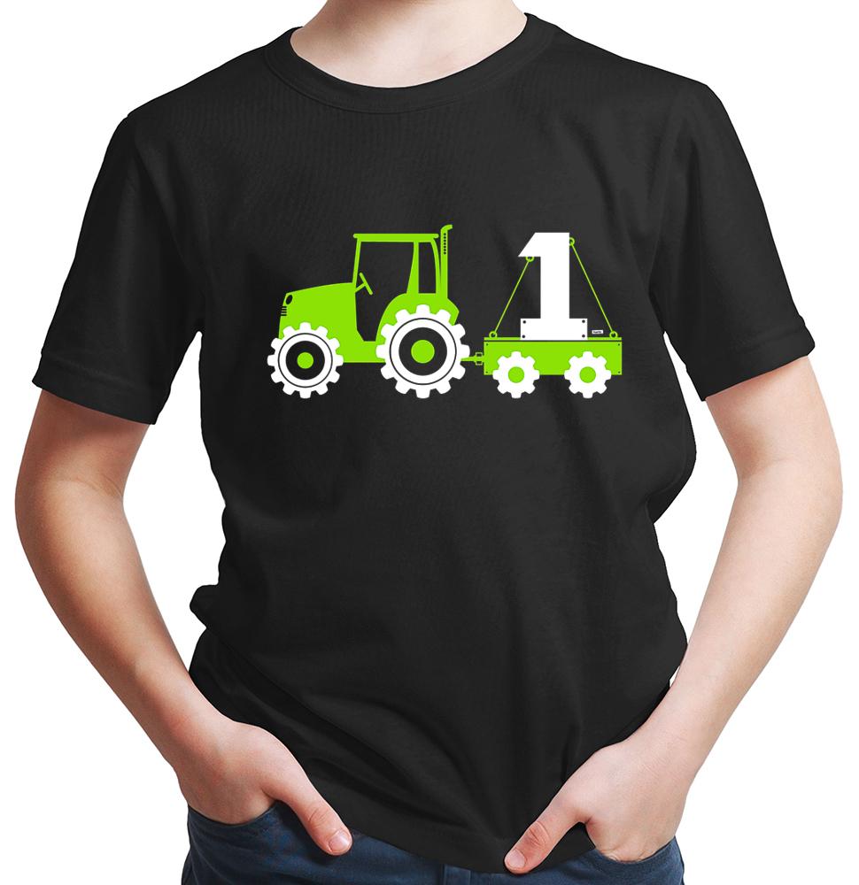 Hariz Com Traktor Bagger 1 Geburtstag Jungen T Shirt 19 Farben