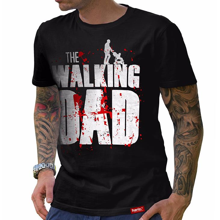 newest 3c748 fa59b HARIZ.com   The Walking Dad Hariz® T-Shirt // Schwarz S-XXL ( Herren ) I  Geschenk I Vatertag I #PAPA Collection   Fun Shirt Collections