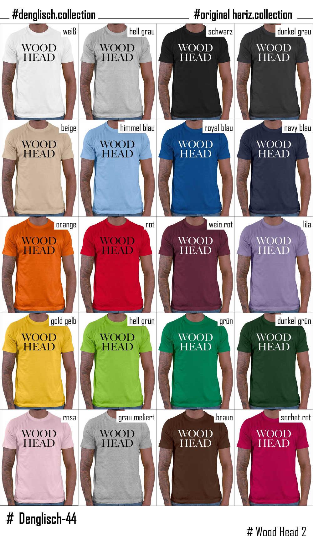 shirt sprüche englisch HARIZ.| Wood Head 2 // Original Hariz® T Shirt   16 Farben, XS  shirt sprüche englisch