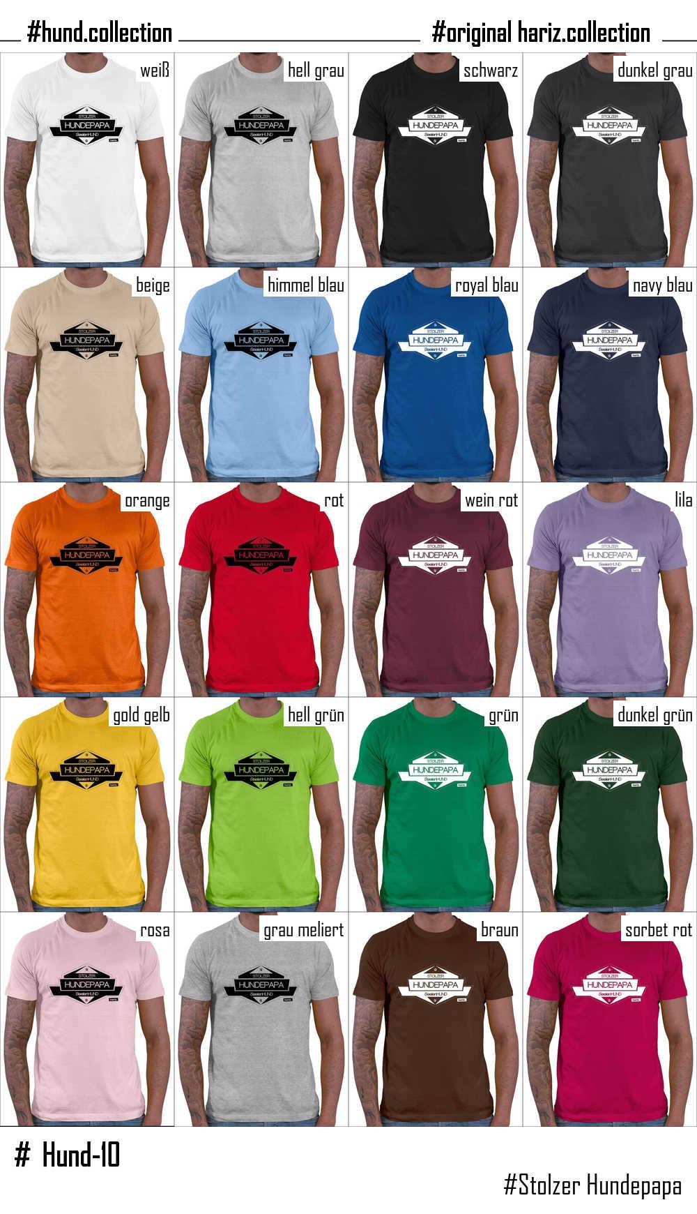 HARIZ.com | Stolzer Hundepapa // Original Hariz® T-Shirt - Sechzehn ...